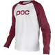 POC Raglan Longsleeve Shirt Men red/white